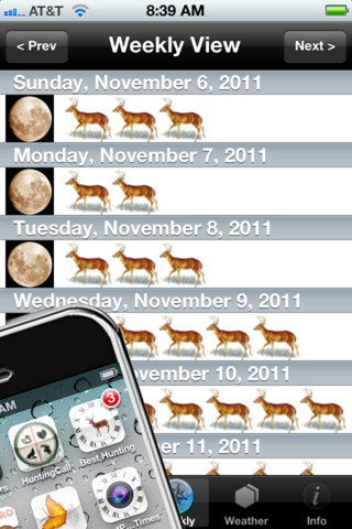 Best Hunting Times for iPhone
